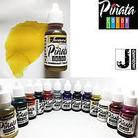 """Спиртові чорнило """"Jacquard Pinata"""" пр-во США, сонячний жовтий 15 мл, 1002, Sunbright Yellow"""