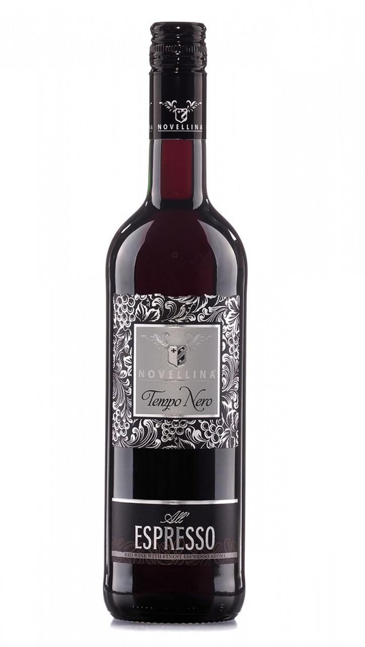 Вино кавове напівсолодке червоне Novellina Tempo Nero Espresso 0,75L.