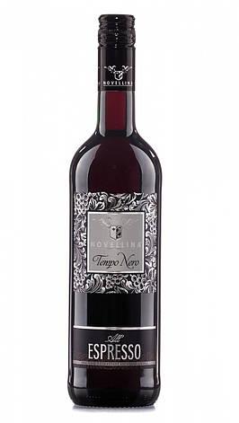 Вино кавове напівсолодке червоне Novellina Tempo Nero Espresso 0,75L., фото 2