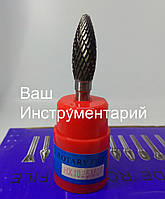 Борфреза по металлу (НХ) 10х25х6 пламевидная твердосплавная