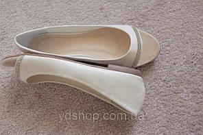 Женские балетки белые легкие прозрачный носок стразы 36-40  хит новинка!