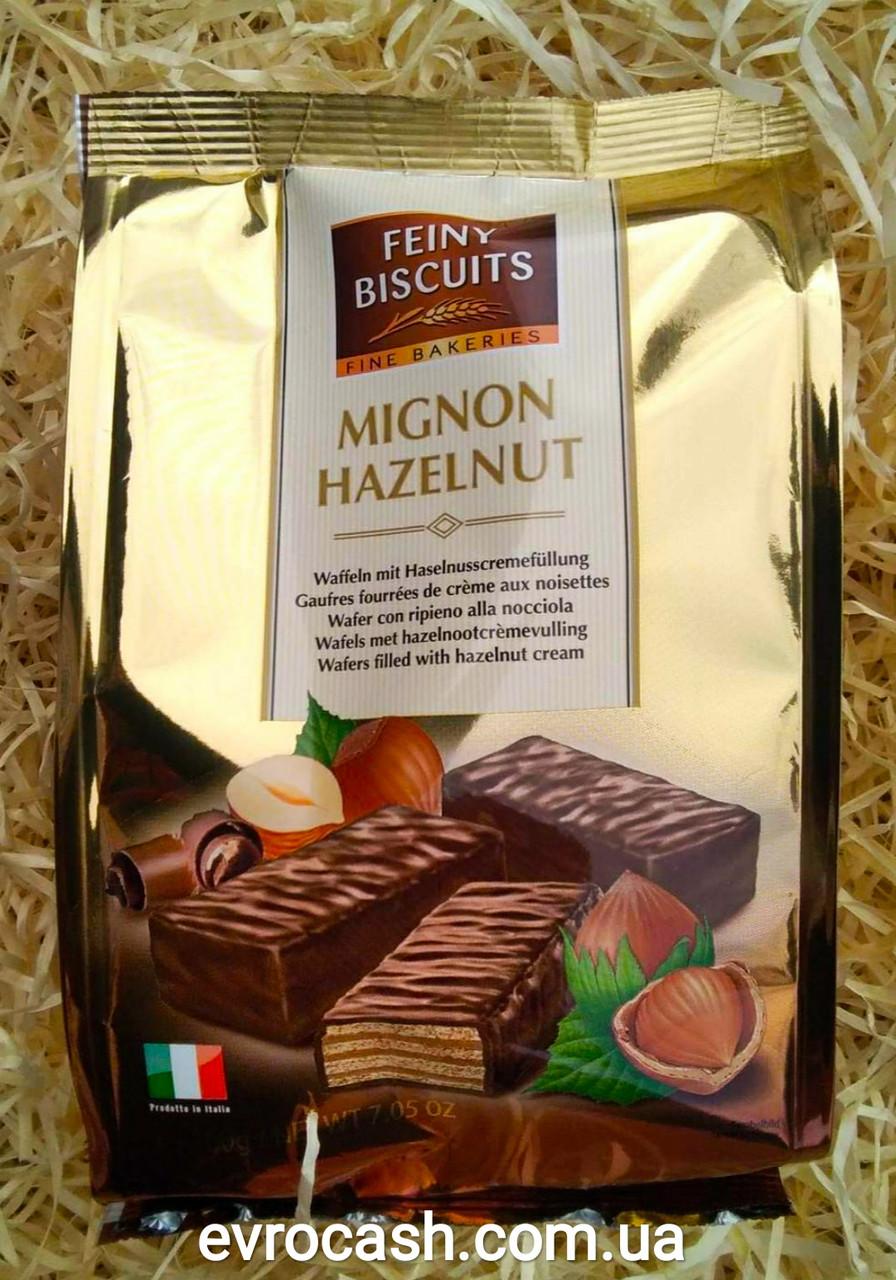 Вафлі Mignon Hazelnut Feiny Biscuits Італія 200 г