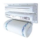 Кухонный держатель Triple Paper Dispenser - диспенсер для бумажных полотенец, пищевой пленки и фольг, фото 2
