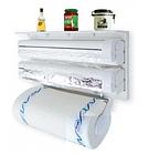 Кухонный держатель Triple Paper Dispenser - диспенсер для бумажных полотенец, пищевой пленки и фольг, фото 3