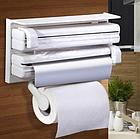 Кухонный держатель Triple Paper Dispenser - диспенсер для бумажных полотенец, пищевой пленки и фольг, фото 5