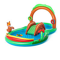 Детский игровой центр бассейн с горкой Лес 214 л