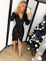 Вечернее платье,мини,чёрное/бордо,с-м