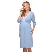 Халат для беременных и кормящих МАМИН ДОМ 25305 (размер 42, голубой), фото 1