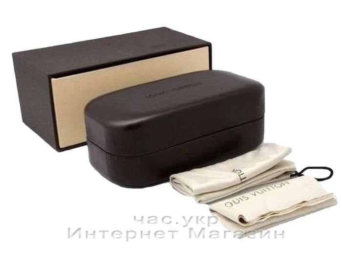 Футляр для сонцезахисних окулярів Louis Vuitton LV комплект шкіряний чохол луї вітон репліка