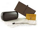 Футляр для сонцезахисних окулярів Louis Vuitton LV комплект шкіряний чохол луї вітон репліка, фото 2