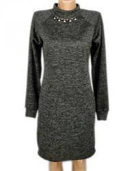 Платье ангора теплое женское трикотажное большого размера