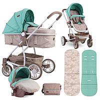 Детская универсальная коляска-трансформер 3 в 1 с автокреслом бежевая Lorelli S-500 set с рождения до 3-х лет