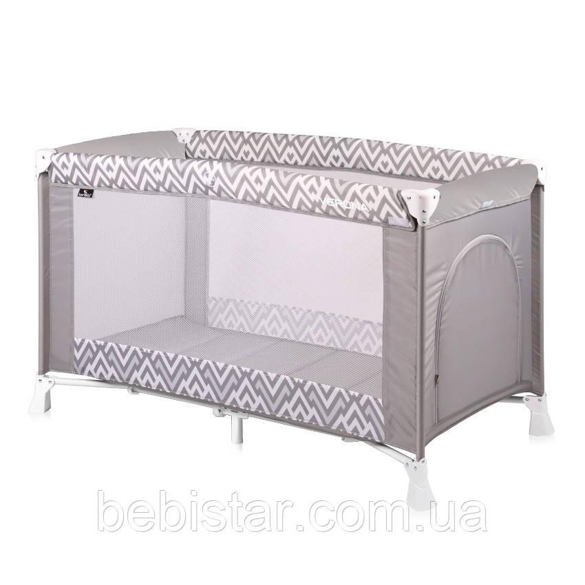 Манеж  для отдыха и игры серый Lorelli Verona 1 для детей от рождения до 36-ти месяцев