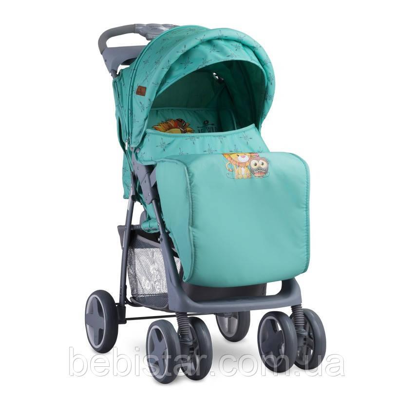 Детская прогулочная коляска зеленая Lorelli Foxy от 6 месяцев до 3 лет