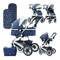 Детская коляска Lorelli Lora set Темно-синий детям от рождения и до 3 лет.