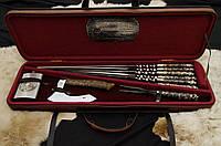 """Элитный подарок мужчине - набор """"Тигры XXL""""  с шампурами, флягой, кулачным топором, шашлычной вилкой"""