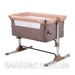 Приставная кроватка шоколадно-бежевое Lorelli Sleep N Care с рождения и до 6-ти месяцев