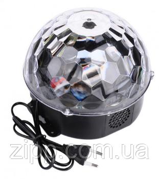 Світломузика диско куля Magic Ball Music MP3 плеєр SD-5150