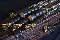 """Эксклюзивный набор аксессуаров для шашлыка """"The Black Pearl"""", в футляре из дерева с гравировкой"""