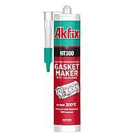 Герметик силиконовый термостойкий Akfix HT300 310мл Черный