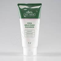 Очищающая пенка для чувствительной кожи лица VT Cosmetics CICA MILD FOAM CLEANSER - 300 мл