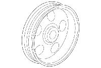 Шкив насоса гидроусилителя рулевого управления GM 12605176 OPEL Insignia & Buick Regal, фото 1