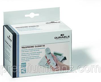 Серветки для мобільних телефонів (50 шт) CLEAN BOX DURABLE