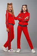 Детский спортивный костюм для девочек Madlen Красный (134-164см) на весну осень лето