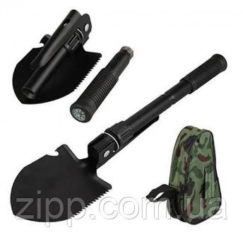 Лопата розкладна SHOVEL автомобільна туристична військова в чохлі