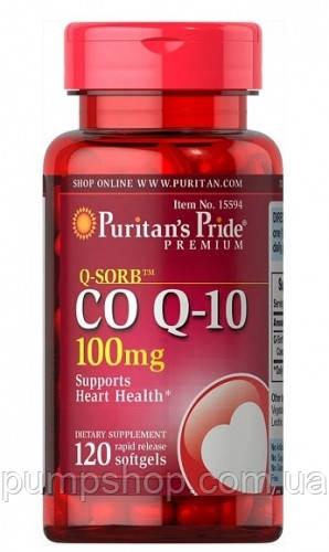 Коэнзим Puritan's Pride Q-SORB™ Co Q-10 100 mg 120 капс.Нет в наличии