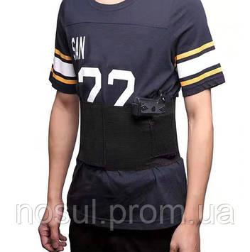 Бандаж пистолетный #2 пояс кобура (р.М = обхват 95-99 см) цвет черный тренировка охота стрельба