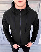 Куртка мужская Puma Soft Shell весенняя ветровка (черная)