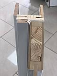 """Межкомнатные двери ECO Doors Smart С034 """"Омис"""" экошпон с черным стеклом 60, 70, 80, 90 см, фото 2"""