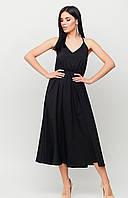 Женское Платье миди из лекгой летней ткани с открытой спиной