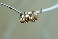 Серьги кольца конго, широкие серьги кольца,