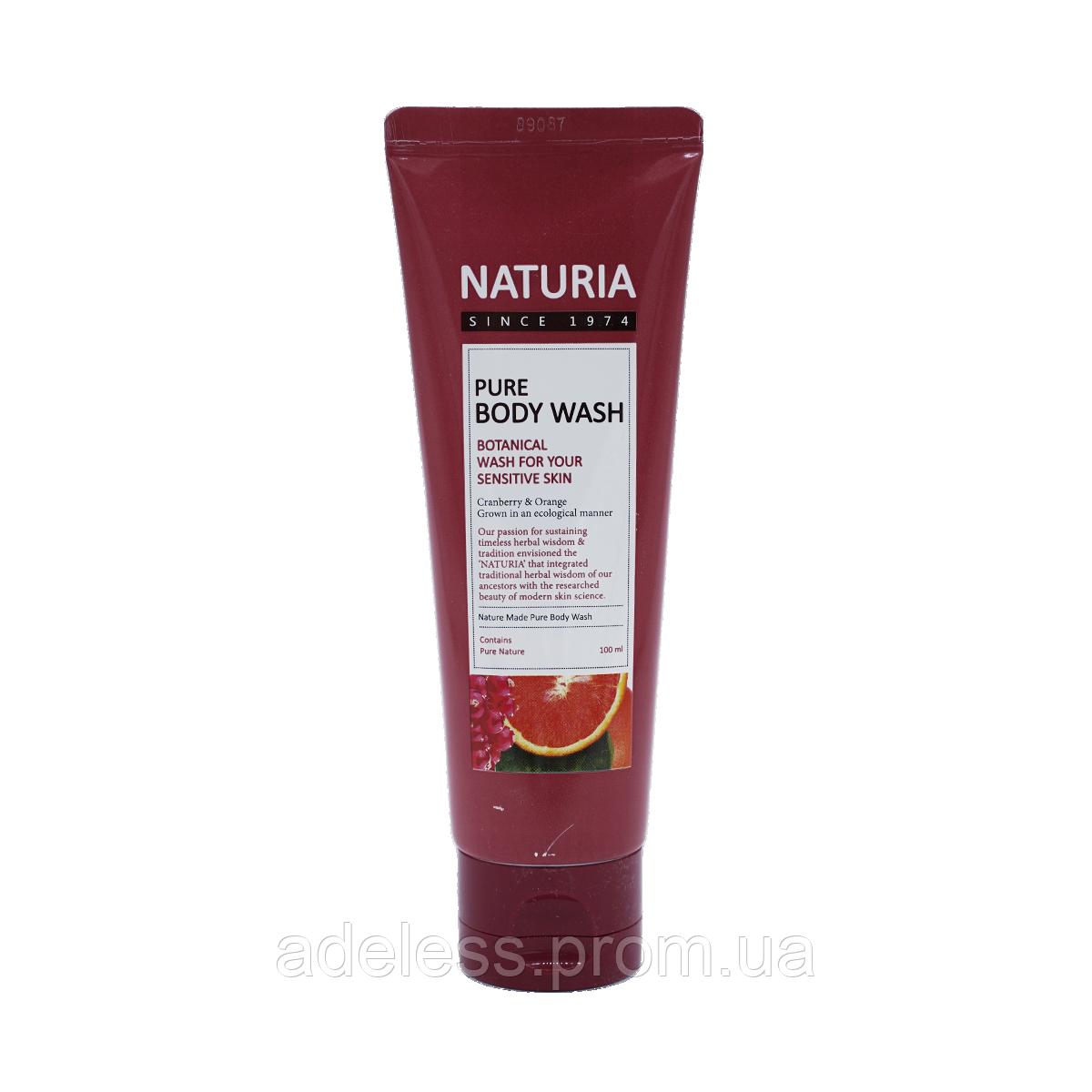 Гель для душа с ароматом сладкого апельсина, клюквы и зеленого яблока Pure Body Wash Cranberry & Orange, 100мл