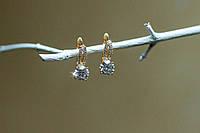 Сережки женские из медицинского золота Xuping
