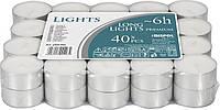Свечи чайные Bispol long Lights premium 1.85 см 40 шт 6 часов (pf20-40s)