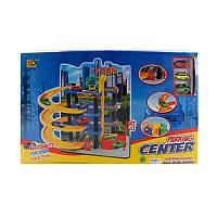 Игровой гараж с машинками 1603, 4 этажа, машинка 7см 3шт, лифт