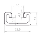 Алюминиевый станочный профиль 22,5х11 АН, фото 2