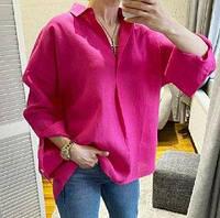 Женская рубашка из льняной ткани, фото 1