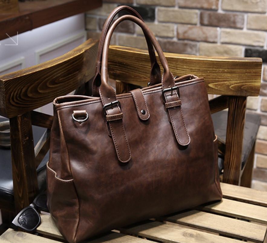 Мужская кожаная сумка. Модель 63205