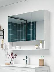 Умный шкаф из дерева с зеркалом для ванной. Модель RD-479.