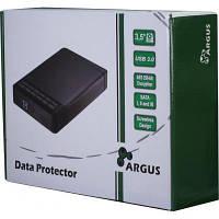 Карман внешний Argus 3.5' SATA III, max 16TB, USB 3.0, AES 256-bit encryption, Al (GD-35LK01)
