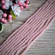 """""""Рондель"""" намистини 6 на 4 мм, рожевий, 95 шт. - 24 грн"""