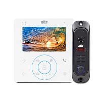 """Комлект домофона ATIS AD-480 W Kit box/ монітор 4""""/1000 твл/+ відеопанель з кутом огляду 80 °"""