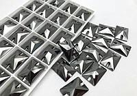 De'Lux Rectangle Jet Hematite 18*13mm Premium стекло прямоугольник джет гематит