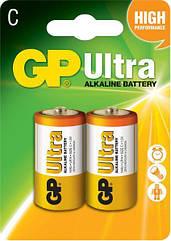Батарейки GP C LR14 Ultra Alcaline 1.5V 2 шт 34473, КОД: 1379083