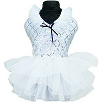 Платье для собак «Кокетка», белый