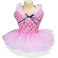 Плаття для собак «Фея», рожевий, одяг для собак дрібних і середніх порід, фото 1